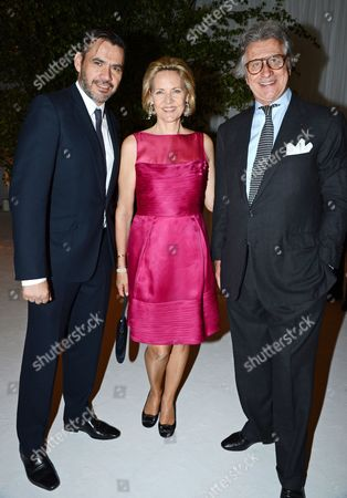 Roland Mouret, Carla Bamberger and Arnaud Bamberger