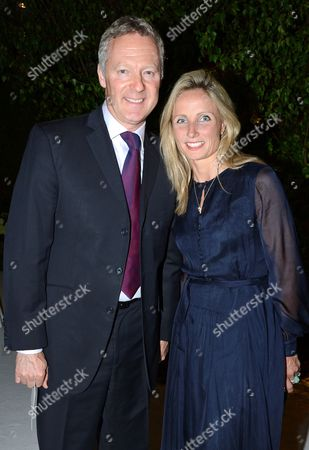 Stock Picture of Rory Bremner and Tessa Campbell Fraser
