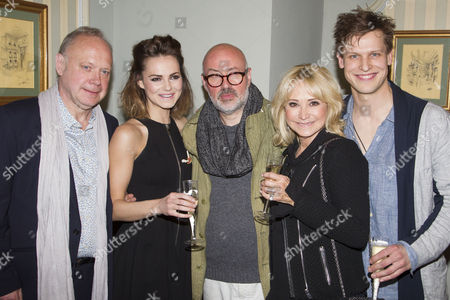 Stock Picture of Jonathan Coy (Philip), Kara Tointon (Ginny), Lyndsey Posner (Director), Felicity Kendal (Sheila) and Max Bennett (Greg)