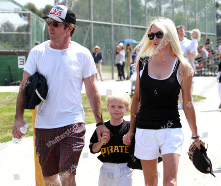 Editorial photo of Dennis Quaid and ex-wife take son Thomas to play baseball, Los Angeles, America - 19 May 2013