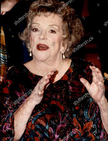 Beryl Reid Obe (17 June 1919 Oo 13 October 1996) Was A British Actress Of Stage And Screen. Pictured After Winning Lifetime Award At The British Comedy Awards.