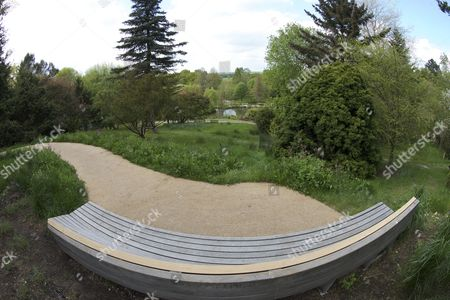 Stock Picture of Butterfly Meadow Memorial Garden to murder victim Jo Yeates who was an architect student at the gardens, Sir Harold Hillier Gardens, Romsey, Hampshire, Britain