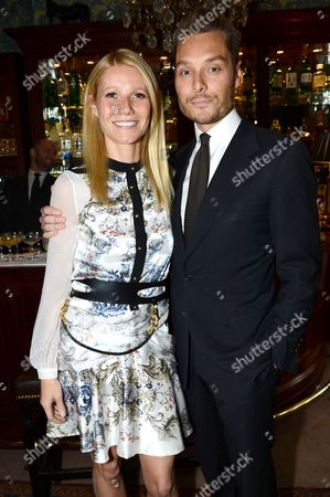 Gwyneth Paltrow and Seb Bishop at goop's party to launch the summer season at Mark's Club