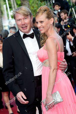 Stock Picture of Mika Hakkinen and Marketa Kromatova