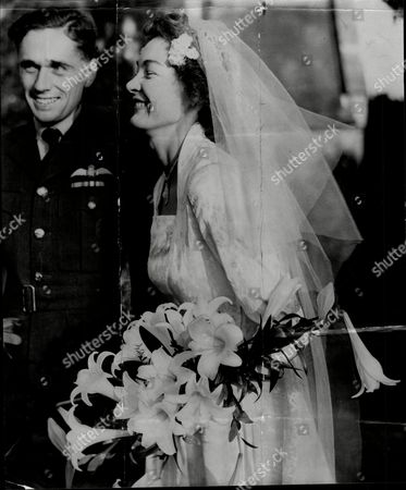 Editorial image of Wedding Of Miss Nan Findlay And Ft Lt John Maitland At Hertingfordbury Near Hertford.