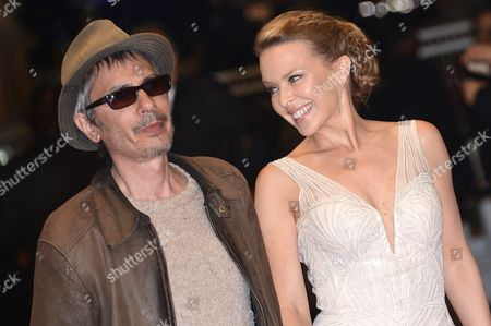 Stock Image of Kylie Minogue and Leos Carax