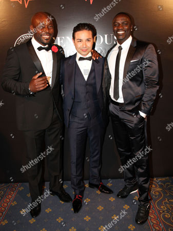 Stock Photo of Jimmy Jean-Louis, David Luu and Akon