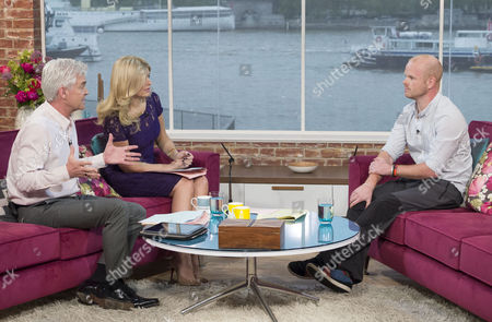 Stock Photo of Phillip Schofield and Holly Willoughby with Matthew Gough
