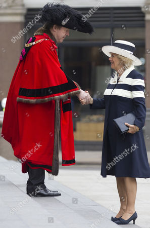 Lord Mayor of London Roger Gifford and Camilla Duchess of Cornwall