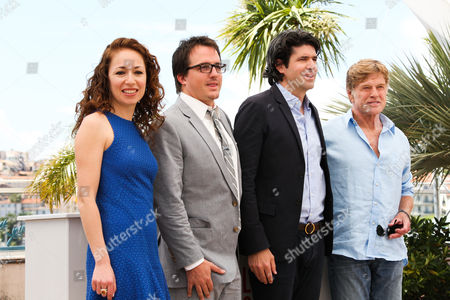 Anna Gerb, Neal Dodson, director J. C. Chandor and Robert Redford