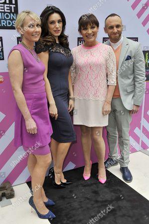 Ali Hall, Kelly Brook, Lorraine Kelly and Mark Heyes