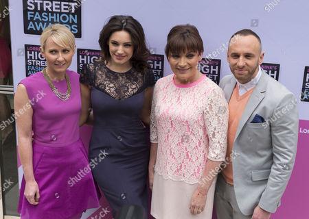 Ali Hall, Kelly Brook, Lorraine Kelly and Mark Heyes.
