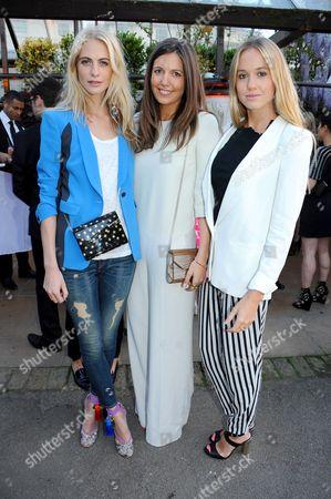 Poppy Delevingne, Amanda Ferry and Florence Brudenell-Bruce