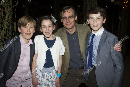 Harry Bennett (Dill), Izzy Lee (Scout), Robert Sean Leonard (Atticus Finch) and Adam Scotland (Jem)