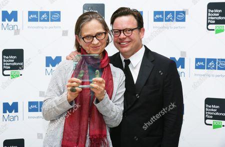 Stock Photo of Lydia Davis with Simon Prosser