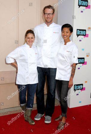 Stock Photo of Brooke Williamson, Chris Jacobson and Kristen Kish