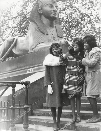 Pop Group Martha And The Vandellas At Victoria Embankment In London. L-r Martha Reeves Rosalind Ashford Betty Kelley Martha And The Vandellas (known From 1967 To 1972 As Martha Reeves And The Vandellas) Were An American Vocal Group Who Found Fame In The 1960s With A String Of Hit Singles On Motown's Gordy Label. Founded In 1960 By Friends Annette Beard Rosalind Ashford And Gloria Williams The Band Eventually Included Martha Reeves Who Moved Up In Ranks As Lead Vocalist Of The Group After Williams' Departure In 1962. The Group Signed With And Eventually Recorded All Of Their Singles For Motown's Gordy Imprint. The Group's String Of Hits Included '(love Is Like A) Heat Wave' 'nowhere To Run' 'jimmy Mack' 'bless You' And 'dancing In The Street' The Latter Song Becoming Their Signature Single. During Their Nine-year Run On The Charts From 1963 To 1972 Martha And The Vandellas Charted Over Twenty-six Hits And Recorded In The Styles Of Doo-wop R&b Pop Blues Rock And Roll And Soul. Ten Vandellas Songs Reached The Top Ten Of The Billboard R&b Singles Chart Including Two R&b Number Ones. In 2004 Rolling Stone Ranked Martha And The Vandellas #96 On Their List Of The 100 Greatest Artists Of All Time.