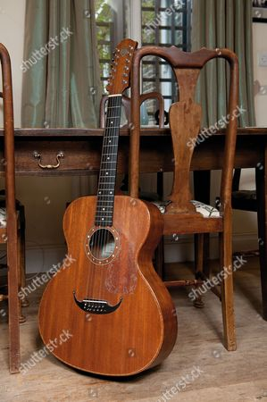 London United Kingdom - October 2: A Rare Zemaitis 12-string Acoustic Guitar Used By English Singer-songwriter Ralph Mctell - October 2