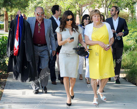 Stock Photo of Eva Longoria with her father Enrique Longoria, Jr. and mother Ella Eva Mireles