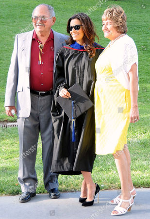 Editorial image of Eva Longoria gets master's degree from California State University Northridge, Valley Performing Arts Center, Los Angeles, America - 22 May 2013