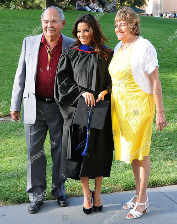 Eva Longoria with her father Enrique Longoria, Jr. and mother Ella Eva Mireles