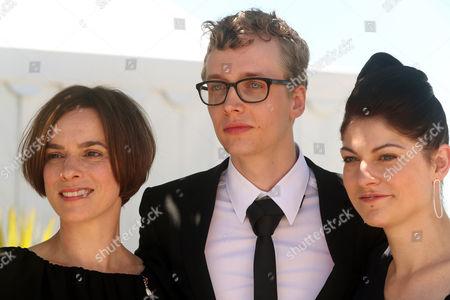 Stock Photo of Annika Kuhl, Julius Feldmeier and Katrin Gebbe