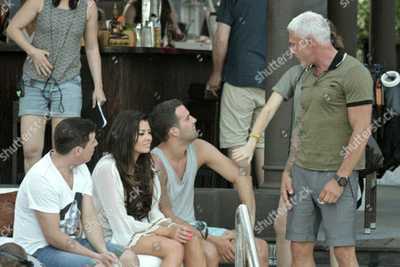 (L-R) Chris Drake, Jessica Wright, Ricky Rayment and Wayne Lineker
