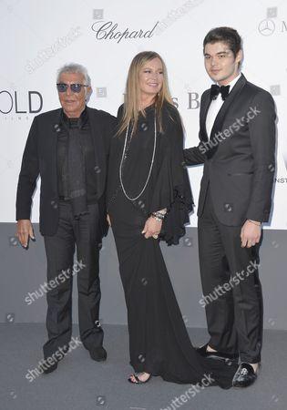 Roberto Cavalli, Eva Cavalli and Robin Cavalli