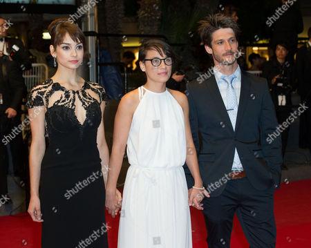 Sophie Desmarais, director Chloe Robichaud and Jean-Sebastien Courchesne
