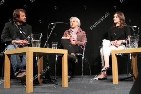 Steve Corry speaks to Margaret Evison and Elizabeth Day