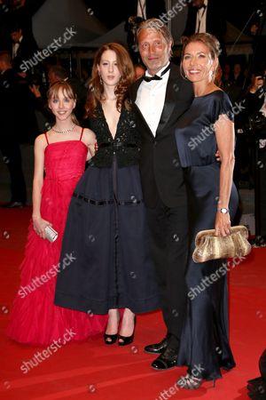 Roxane Duran, Melusine Mayance, Mads Mikkelsen and wife Hanne Jacobsen