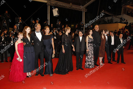 Roxane Duran, Melusine Mayance, Mads Mikkelsen and wife Hanne Jacobsen, Denis Lavant, Delphine Chuillot and Amira Casar