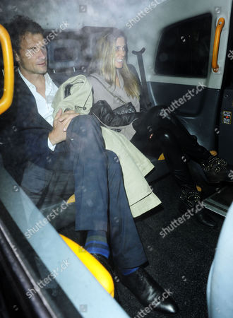 Editorial picture of Jens and Conny Lehmann leaving Loulou's Club in Mayfair, London, Britain - 25 May 2013