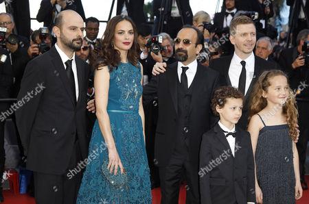 Stock Photo of Ali Mosaffa, Berenice Bejo, Asghar Farhadi, Alexandre Mallet Guy, Elyes Aguis, Jeanne Jestin