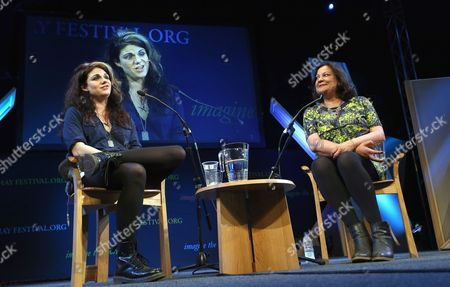 Caitlin Moran speaking to India Knight