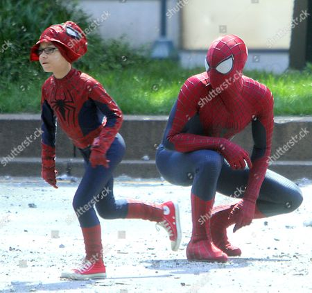 Stock Picture of Andrew Garfield and Jorge Vegas