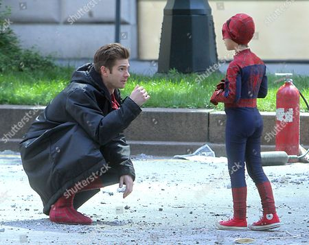 Editorial image of 'The Amazing Spider-Man 2' film set, New York, America - 27 May 2013