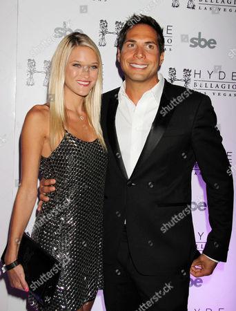 Stock Photo of Joe Francis, and Girlfriend Abbey Wilson