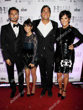 Stock Picture of Scott Disick, Kourtney Kardashian, Joe Francis, Kris Jenner