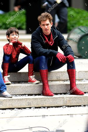 Editorial image of 'The Amazing Spider-Man 2' film set, New York, America - 26 May 2013