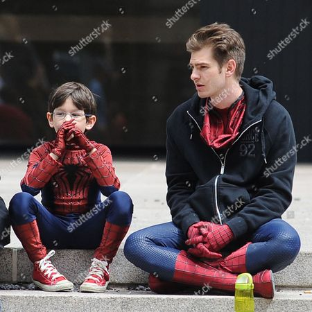Editorial photo of 'The Amazing Spider-Man 2' film set, New York, America - 26 May 2013