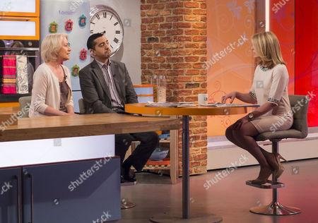Sarah Baxter and Mehdi Hasan with Helen Fospero