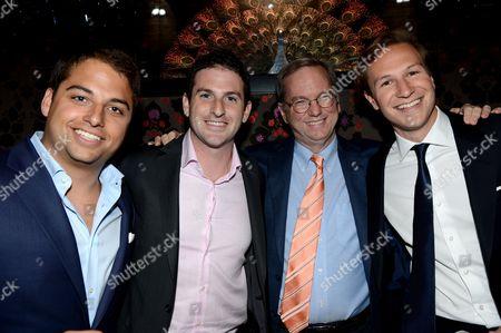 Jamie Reuben, Jared Cohen, Eric Schmidt and Dave Clarke