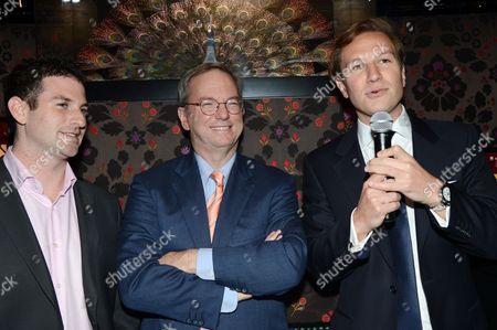 Jared Cohen, Eric Schmidt and Dave Clarke
