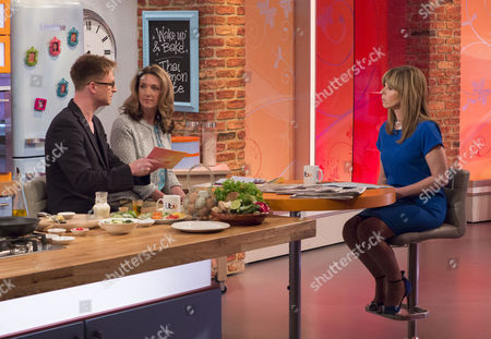 Olly Kendall and Victoria Derbyshire with Presenter Kate Garraway