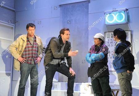 Sean Gilder as Mel, Stephen Campbell Moore as Joe, Sarah Lam as Feng Meihui, Elizabeth Chan