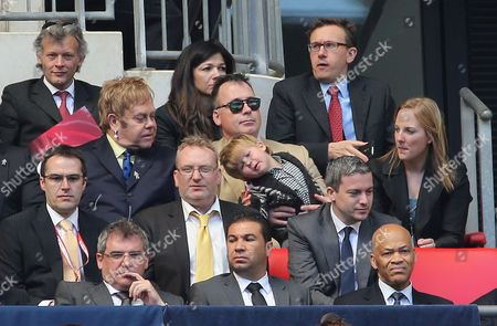Sir Elton John with his partner David Furnish and their son Zachary Furnish-John