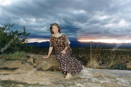 Actress Virginia Mckenna In Meru Kenya Where George Adamson Released 'elsa' The Lion Star Of Film 'born Free' Back Into The Wild. She Last Visited Meru 30 Years Ago With Her Late Actor Husband Bill Travers. She Is There Campaigning To Save The Lions. Picture Shows Her Standing At 'elsa's' Grave.