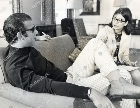 Virginia Ironside Journalist Interviewing Bob Rafelson Manager Of The Monkees Pop Group.