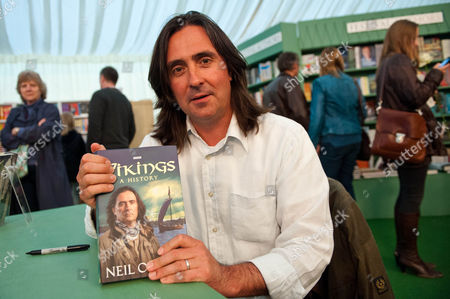 Neil Oliver with his book 'Vikings: A History'
